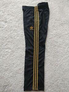 Adidas Originals Womens Track Pants Trousers Training Black Leopard Stripes