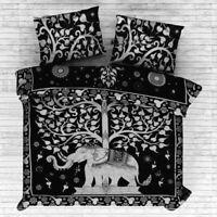 Queen Size Boho Bed Quilt Doona Duvet Cover Set Indian Mandala Blanket Comforter