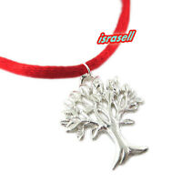 Kabbalah Tree of Life Red String Bracelet - 925 Sterling Silver