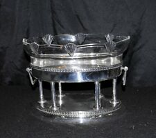 Silver Plate German Art Deco Glass Stand Tray Tureen 1930s WMF