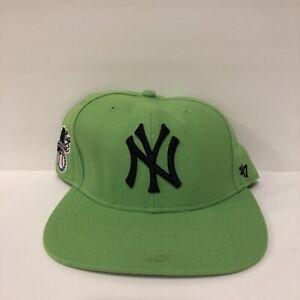 47 Brand Snapback Cap - New York Yankees lime green Black Lettering Rare