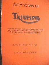 50 years of Triumph  motor cars brochure of rerun of 1934 alpine trial in 1973