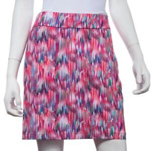 "NEW EP PRO EPNY SMALL Fineline Brush Stroke Skort Golf Skirt Melon Multi 18"" NWT"