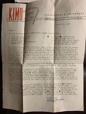 1956 Radio Station KIMO Independence, Mo Music Survey Chart