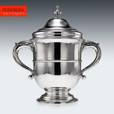 More details for antique 19thc victorian solid silver large cup & cover / cooler, london c.1896