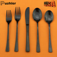 18/10 Stainless Steel Flatware Set Cutlery Black Silverware Set,Service for 4