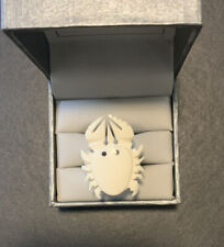 White Crab Ring Handmade. Size 15.60mm Or 5 Usa. carved from cow bone.