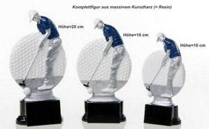 3er Serie Pokale Golf ST3920567 (H=20-16cm) inkl.Gravur 46,75 EUR