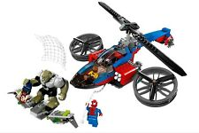 LEGO 76016 Marvel Super Heroes Spider-helicopter Rescue Minifigs & Instructions