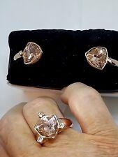DYRBERG KERN ROSE Swarovski Crystal Bangle/RingP-Q III RoseGold Plate - NWT