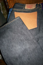 NWOT LEVIS 501 BUTTONFLY LEATHER POCKET JEANS BLUE 40X30