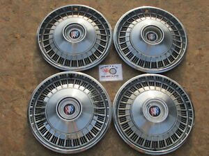 """1965 BUICK LESABRE, ELECTRA 15"""" FIN STYLE WHEEL COVERS HUBCAPS, SET OF 4"""