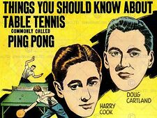 Funda Libro De Deporte Tenis De Mesa Ping Pong 1937 nuevo Fine Art Print cartel CC4265