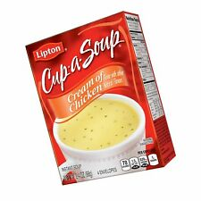 Lipton Cup-a-Soup Instant Soup Mix Cream of Chicken 2.4 oz (Pack of 12)