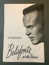1959 Harry Belafonte the Palace Theatre Program In Person Billy Stewart Calypso