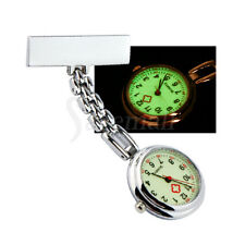 Women Men Clip-on Brooch Pendant Necklace Nurse Doctor Quartz Pocket Watch Gift