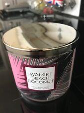 Bath and Bodyworks 3 wick candle Waikiki Beach Coconut NEW