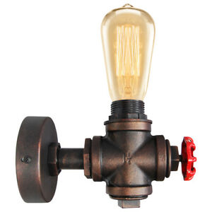 Vintage Industrial Rustic Unique Style Wall Light Knob Waterpipe Wall Lamp M0071