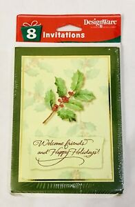 New Unopened Vintage American Greetings Holiday Friends Gathering Invitations