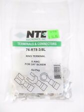 NTE Electronics -Terminals Connectors - 76-RT8-3/8L - 50/pkg - BIN $14.99 - NOS