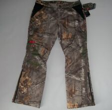 UNDER ARMOUR Realtree CAMO EXTREME Hunting Insulated PANTS Womens Sz 12 $240 NEW