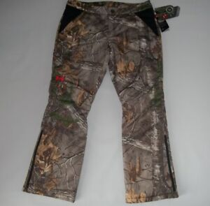 UNDER ARMOUR Realtree CAMO EXTREME Hunting Insulated PANTS Womens Size 12  NEW
