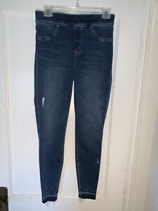 Spanx Distressed Ankle Skinny Jeans. Size M