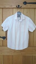 BOYS SHORT SLEEVED SHIRT AUTOGRAPH MARKS & SPENCER AGE 9 YEARS MULTI COLOURED