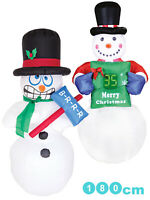 Giant Outdoor Light Up Inflatable Large Christmas Decoration Xmas Garden LED 6ft