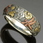 Creative Jewelry for Women 925 Silver Rings Gifts Party Band Rings Size 6-10
