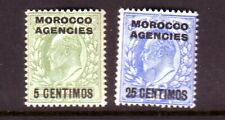 MOROCCO AGENCIES (SPANISH) 1907 5c & 25c  U/M