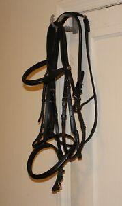 Black All Sizes Presteq Faysport Unisex Saddlery Snaffle Bridle