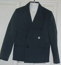 Michael James Classic Collection Blue Double Breasted Suit Jacket 7 Slim