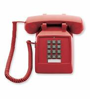 Retro Emergency Phone Red Push Button Vintage Telephone Corded Collectors Gifts
