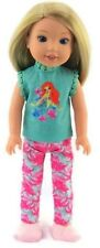 """Little Mermaid Pajamas fits 14.5"""" American Girl Wellie Wishers Doll Clothes"""