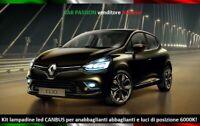 KIT FARI LED RENAULT CLIO ANABBAGLIANTI ABBAGLIANTI LUCI POSIZIONE 6000K CANBUS