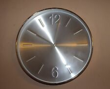 30cm Aluminium Markers / Arabic Numerals Wall Clock with Silver Embossed Numbers