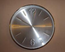 30cm ALLUMINIO Marcatori/NUMERI ARABI Orologio da parete con numeri in rilievo argento