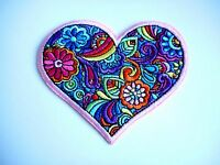 1x Retro Heart Love Patches Embroidered Cloth Applique Badge Patch Iron Sew On
