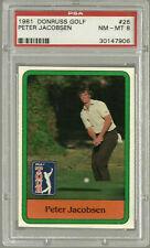 1981 Donruss #26 Golf Peter Jacobsen   PSA 8 Near Mint
