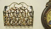 Antique Looking Gold Wall Mountable Mattel Magazine News Paper Rack Holder New