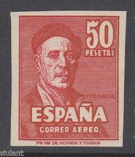 DIFICIL ZULOAGA SIN DENTAR ** 1016s - AÑO 1947 - CERTIFICADO COMEX - LUJO