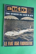 AUTO ITALIANA 32 1964 FIAT 850 FUORISERIE HONDA F1 CESANA-SESTRIERE RALLY PICENO