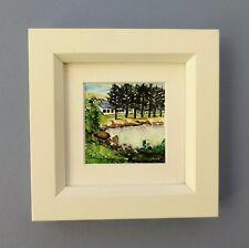 "Miniature Framed Original Watercolour ""Middleton Beach"", Albany West Australia."