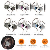 KZ ZSN Pro Earphones 1BA+1DD Hybrid HIFI Bass Stereo Earbuds In Ear Headset