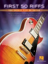 First 50 Riffs You Should Play on Guitar - Guitar Collection Book NEW 000277366