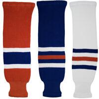 Edmonton Oilers Knitted Classic Pro Ice Hockey Socks - Orange Royal White