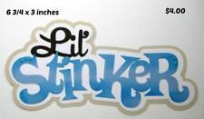 LITTLE STINKER BLUE TITLE girl boy scrapbook premade paper piecing by Rhonda