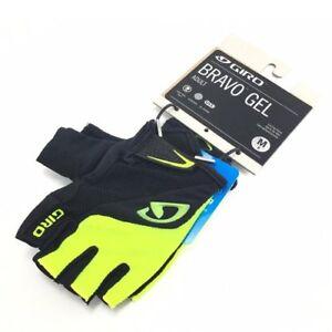 GIRO Bravo Gel Moisture Wicking Bike Short Finger Gloves,Black x Yellow