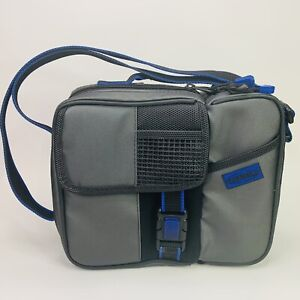 Thermos 2 Compartment Insulated Gray Lunch Bag With Adjustable Carry Strap